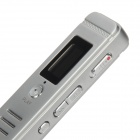 "V18 0.7 ""LCD USB 2.0 Gravador de Voz Digital w / MP3 Player (4GB) - Prata"