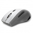 Zhanpeng MF-168 2.4G Wireless LED Optical Mouse - Black + Silver (2 x AAA)