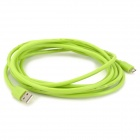KS-U35 USB to Micro 5pin Charging / Data Cable for Samsung / HTC / BlackBerry - Green (297cm)