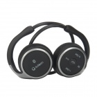 SUICEN AX-698 Sport Bluetooth V4.0 Stereo Neckband Headphone w/ FM Radio + TF Music Play - Black