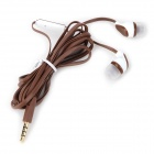 S-What Stylish Universal 3.5mm Jack Wired In-ear Stereo Headset w/ Microphone - Coffee + White