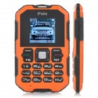"IPake Q8 Mini Ultrathin Rugged GSM Card Phone w/ 1.5"" Screen, Quad-band and Bluetooth V2.0 - Orange"