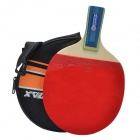 WIN.MAX W-107 1 Star Single Table Tennis Paddle w/ Short Handle - Red + Black