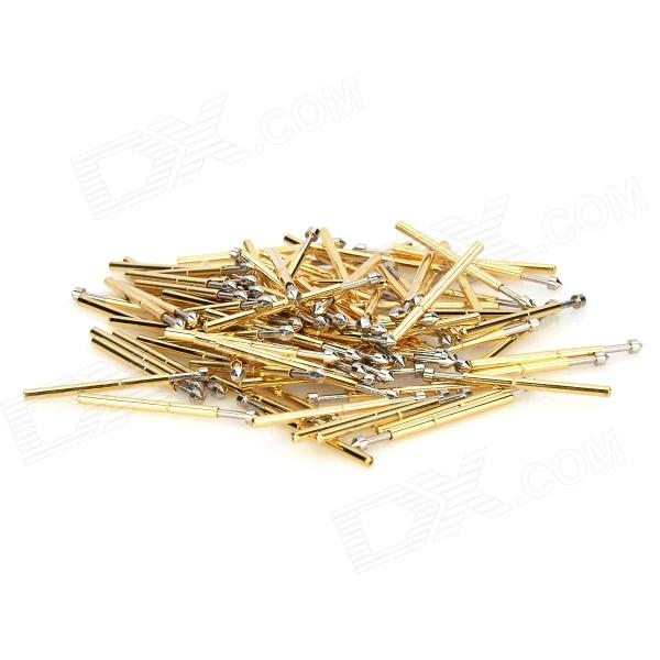 LSON P75-E Gold Plated Brass Stylet Probe - Golden (100 PCS) lson r50 2s soldering probe golden 100 pcs