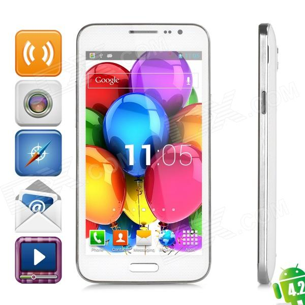 JIAKE G910W Dual-core Android 4.2.2 WCDMA Bar Phone w/ 5.0