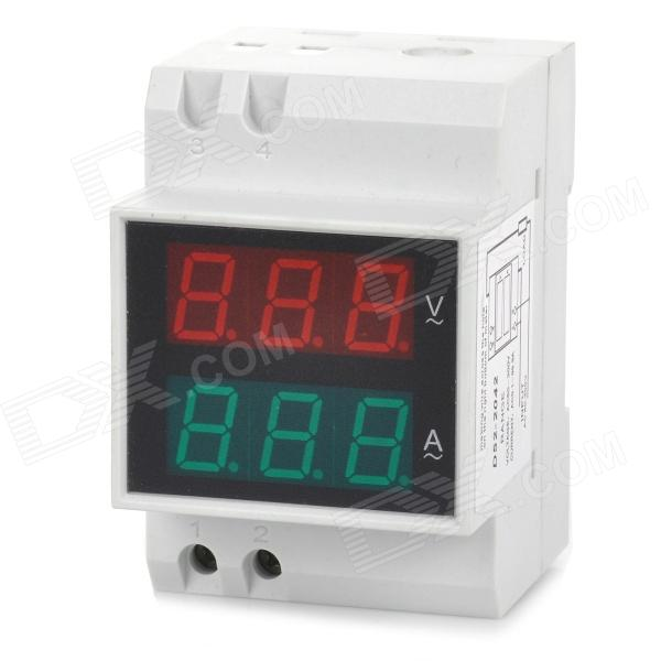 D52-2042 0.55 LED 6-Digit Current / Voltage Meter - White 100 pcs ld 3361ag 3 digit 0 36 green 7 segment led display common cathode