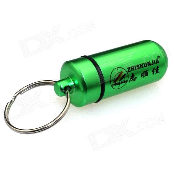ZHISHUNJIA Outdoor Hanging Pill / Matches Bottle w/ Key Chain - Green