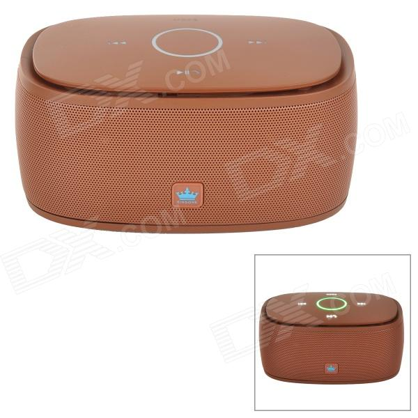 KINGONE K5 Portable Wireless Bluetooth V3.0 Bass 2-CH Speaker w/ TF - Dark Brown lesoi f1 portable wireless bluetooth speaker support tf card