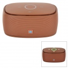 KINGONE K5 Portable Wireless Bluetooth V3.0 Bass 2-CH Speaker w/ TF - Dark Brown