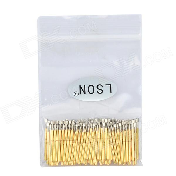 LSON P75-H Gold Plated Brass Stylet Probe - Golden (100 PCS) lson r50 2s soldering probe golden 100 pcs