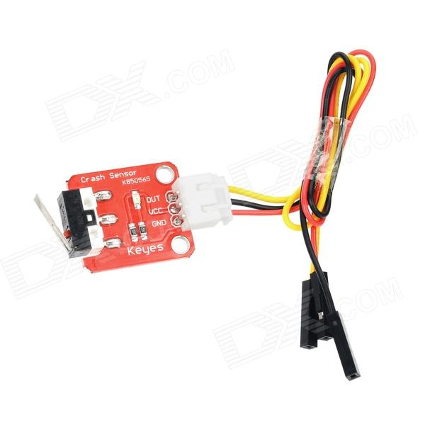 Keyes DIY Crash Sensor Module for Arduino (Works with official Arduino Boards) - Red photo interrupter sensor module for arduino works with official arduino boards