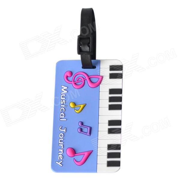DEDO MG-150 Silicone Music Piano Keyboard Style Baggage Tag