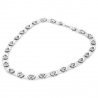 SHIYING G51E2706D4C737 316L Stainless Steel Necklace for Men - Silver