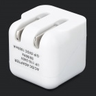 Mini Portable Universal USB Output Flipping US Plugs Power Adapter - White