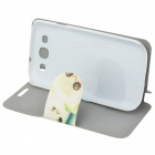 Kinston Cartoon Marshmallow tekening patroon PU Leather Case voor Samsung Galaxy S3 i9300