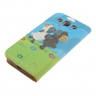 Kinston Sheep's Love Drawing Pattern PU Leather Plastic Cover Case for Samsung Galaxy S3 i9300