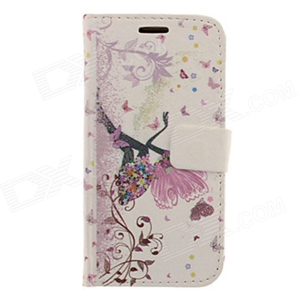 Kinston Butterfly Girl Drawing PU Leather Plastic Cover Case for Samsung Galaxy S3 i9300 butterfly bling diamond case