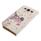 Kinston Butterfly Girl Drawing PU Leather Plastic Cover Case for Samsung Galaxy S3 i9300