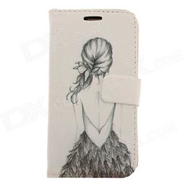 Kinston Bikini Girl Pattern Drawing PU Leather Plastic Cover Case for Samsung Galaxy S3 i9300 kinston colorful flowers and butterflies pattern plastic protective case for samsung galaxy s3 i9300
