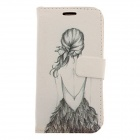 Kinston Bikini Girl Pattern Drawing PU Leather Plastic Cover Case for Samsung Galaxy S3 i9300
