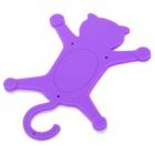 Universal Cat Style Multifunction Silicone Holder for Cell Phone - Purple