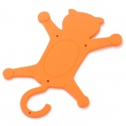 Cat Style Multifunction Silicone Holder for Cell Phone - Orange
