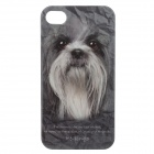 C300006 Animal Series Cute Yorkshire Terrier Style Protective Plastic Back Case for IPHONE 4 / 4S