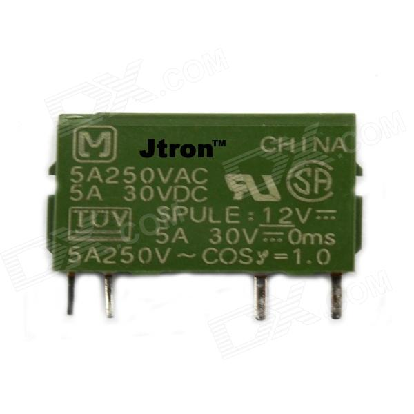 Jtron 03120260 4-pin Relay 12V/5A - Green high voltage dry reed relay crsthv24v normally open type with lead load pressure resistance 10kv lrl grl