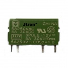 Jtron 03120260 4-pin Relay 12V/5A - Green