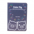 Cute Pig Style Protective PU Leather Case Cover Stand w/ Auto Sleep for IPAD 2 / 3 / 4 - Deep Blue