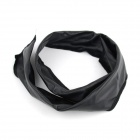 Changeable Artificial Leather Hair Band Strap - Black