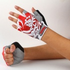Handskin Silicone Bicycle Half Finger Gloves - Red (L / Pair)