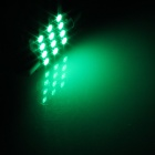 Festoon 36 milímetros 1.2W 120LM 12 LED SMD 1210 Green Light Car Reading / Telhado / Dome lâmpada (12V / 2 PCS)