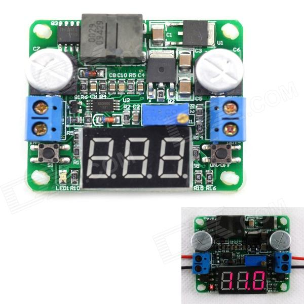 MaiTech Integrated Voltmeter Module / Step-up / Down Power Supply Module - Green(Red Display/5-25V) dc 12v led display digital delay timer control switch module plc automation new