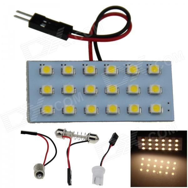 T10 / BA9S / Festoon 2W 140lm 18-SMD 1210 LED Warm White Car Reading Light / Panel Light (12V)