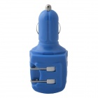 KK-543 USB Car Charger / US Plug AC Power Charger Adapter - Blue (DC 12~24V / AC 110~240V)