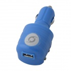 KK-543 USB Car Charger / US Plugss AC Power Charger Adapter - Blue (DC 12~24V / AC 110~240V)