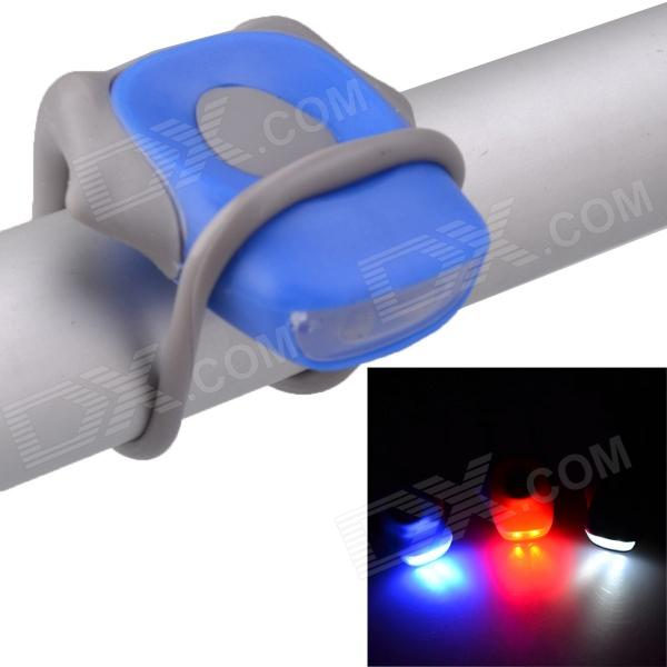 2-LED 2-Mode Blue Safety Rear Tail Light - Blue + Grey (2 pieces / 2 x CR2032)
