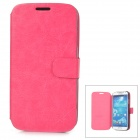 HuaLaiShi Protective Flip Open PU Leather + ABS Case w/ Stand for Samsung S4 i9500