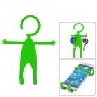 TZ-SJ001GN Multifunction Universal Human-Style Silicone Cellphone Holder - Dark Green