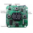 "Kinrener 8002 1"" LED Display MP3 Decoder Board 8002 Hi-Fi w/ SD / MP3 / USB / FM - Green"