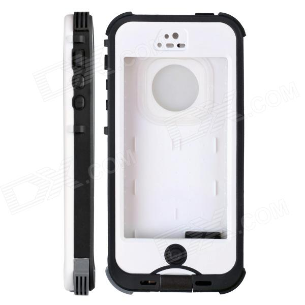 Redpepper HW01 Waterproof Protective Plastic Back Case for IPHONE 5 / 5S - White + Black