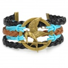 UBE UTY 9008 Europe and America Bird Style Bracelet - Black + Blue + Multi-Colored