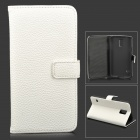 Miniisw C-2 Lychee Pattern Protective PU Leather Case for Samsung Galaxy S5 - White