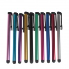 Universal Aluminum Touch Screen Stylus Pens w/ Clip for IPHONE + More - Multicolor (10 PCS)