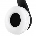 iLeAD Folding Wired Stereo Headphones w/ Microphone - Black + White (3.5mm Plug / 1.5m)