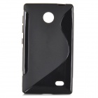 ''S'' Shaped Protective TPU Back Case for Nokia Android X - Black