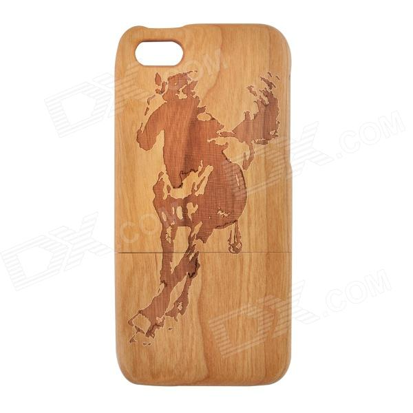 Horse Pattern Protective Wooden Back Case for IPHONE 5