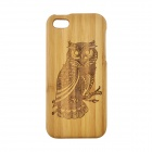 Owl Pattern Protective Bamboo Back Case for IPHONE 5