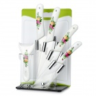 "Bestlead Zirconia Ceramic 3"" / 5"" / 6"" Kitchen Knives Set w/ Peeler / Holder / Chopping Board"